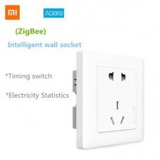Умная Wi-Fi розетка Xiaomi Aqara Wall Socket T1 series ZigBee 3.0 Apple HomeKit