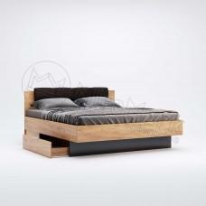 Кровать Луна с мягкой спинкой и ящиками без каркаса 160x200