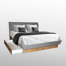 Кровать Линз с ящиками и мягкой спинкой 180x200