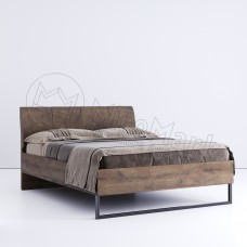 Кровать Квадро 160х200 с мягкой спинкой