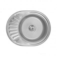 Кухонная мойка LIDZ 5745 mini Satin 0,6 мм