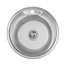 Кухонная мойка LIDZ 490-A Satin 0,8 мм