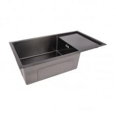 Кухонная мойка LIDZ D7844BL black Handmade 3.0/1.2 мм