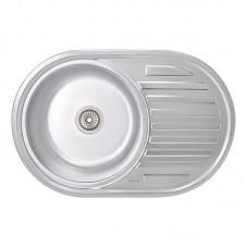 Кухонная мойка LIDZ 7750 Satin/Decor 0,6 мм