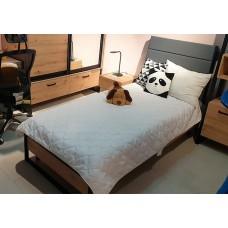 Кровать 1-сп с наклонным изголовьем (каркас) Лофт 90х200